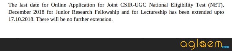 CSIR NET Dec Application Form 2018 (Extended): Registration Schedule, Fees, How to Apply