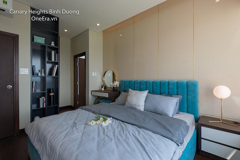 phòng ngủ master căn hộ Canary Heights