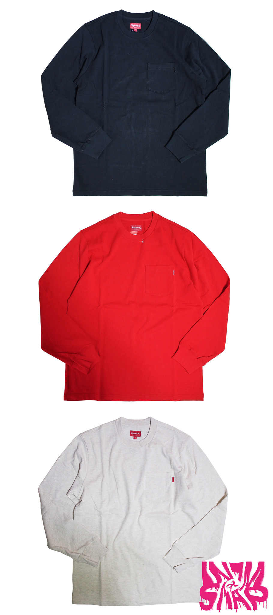 Supreme | L/S Pocket Tee