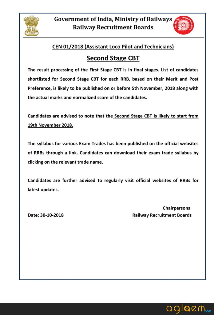 RRB ALP CBT 2 Starting from 19 November; Check Here DGET Syllabus, Exam Pattern, Cut Off, and More