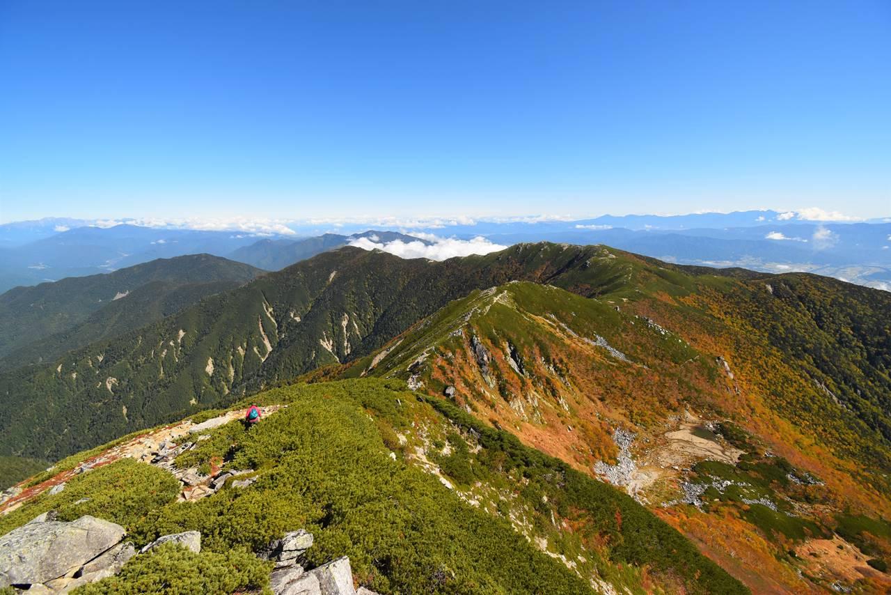 木曽駒ヶ岳~将棋頭山の稜線登山