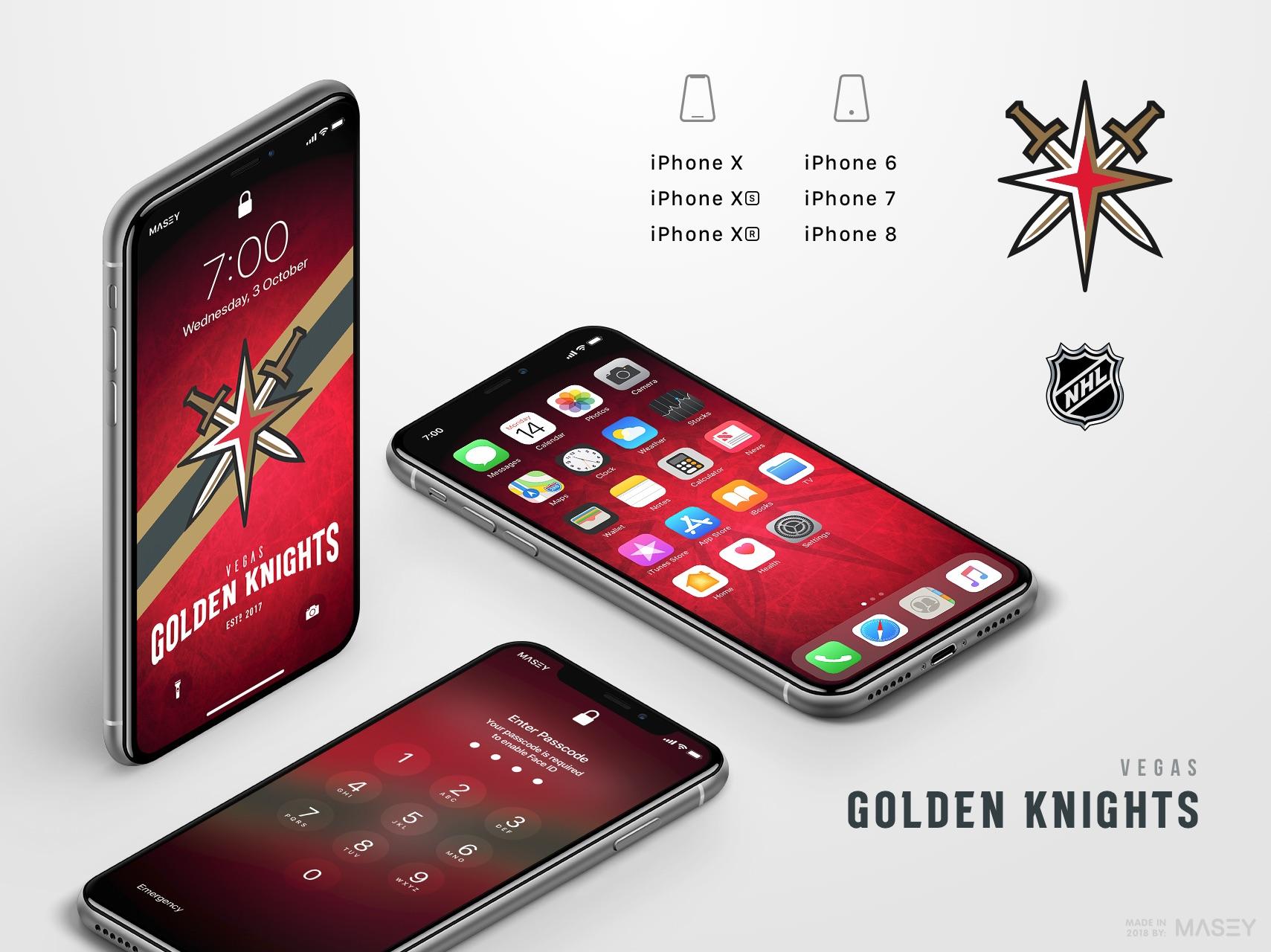 Vegas Golden Knights iPhone Wallpaper