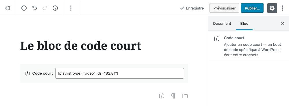 Code court Playlist video