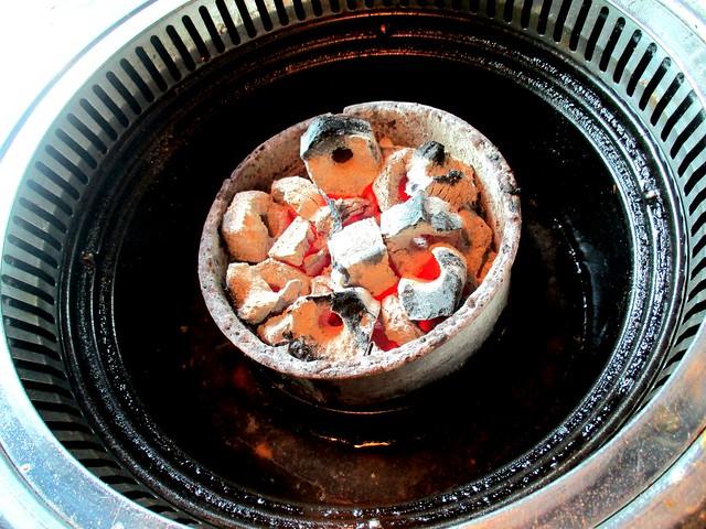 hot charcoal