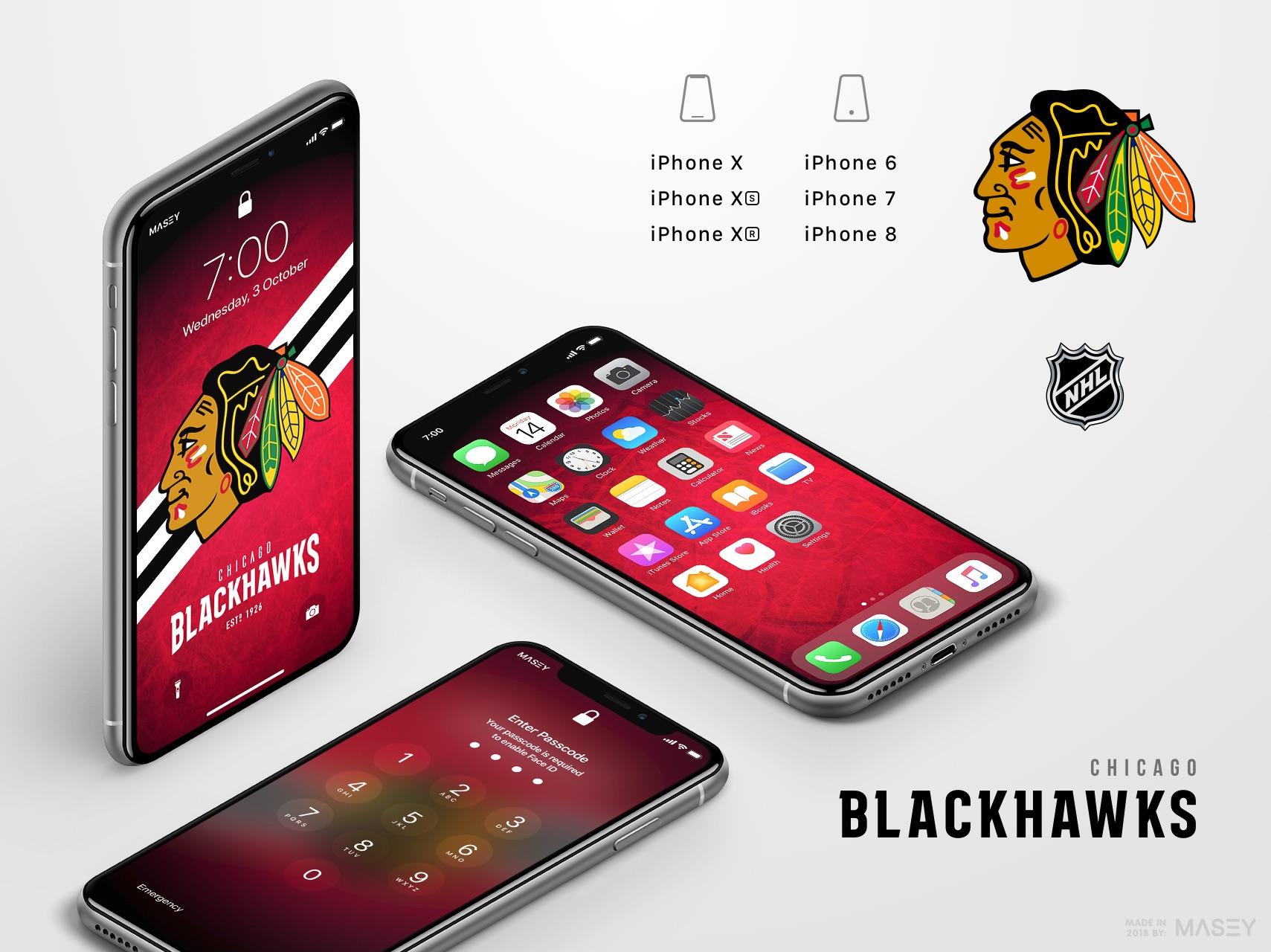 Chicago Blackhawks iPhone Wallpaper