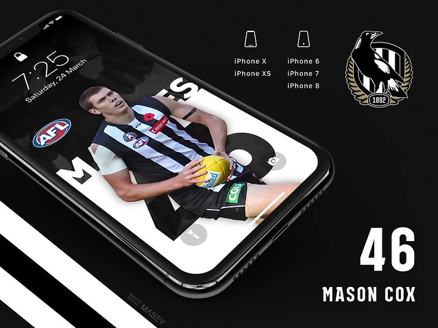 Mason Cox (Collingwood Magpies) iPhone Wallpaper