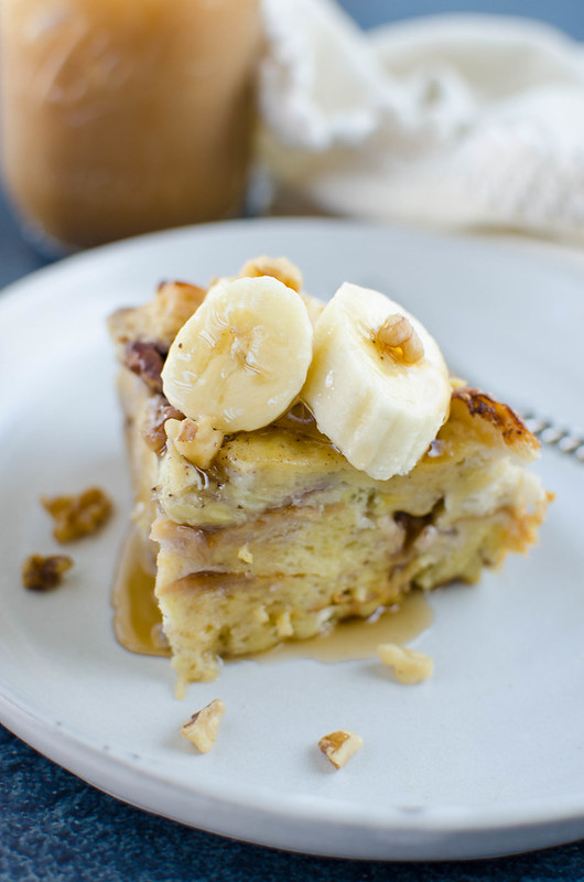 Pressure Cooker Banana Walnut French Toast - make ahead breakfast! Prep the French toast the night before to make breakfast quick and easy! Perfect holiday breakfast!