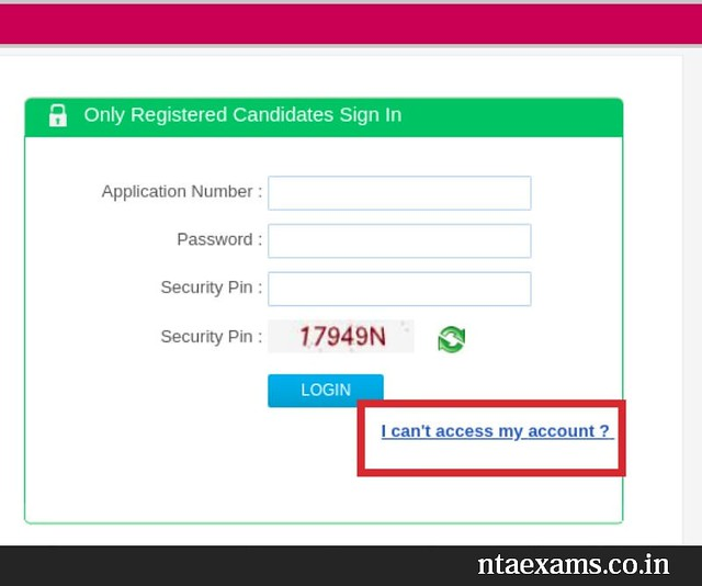 Forgot UGC NET Dec 2018 Candidate Login