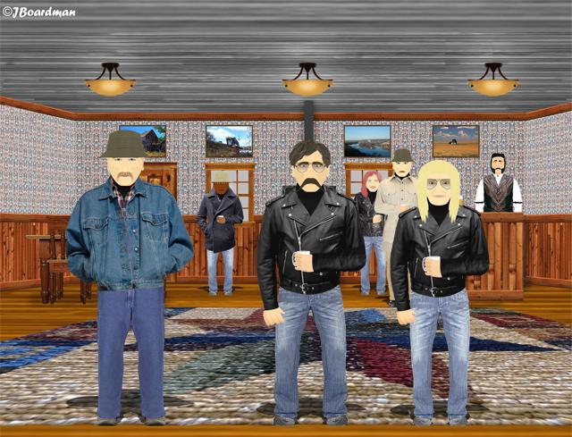 Inside the Flyspeck Bar with Hal Barber ©J. Boardman