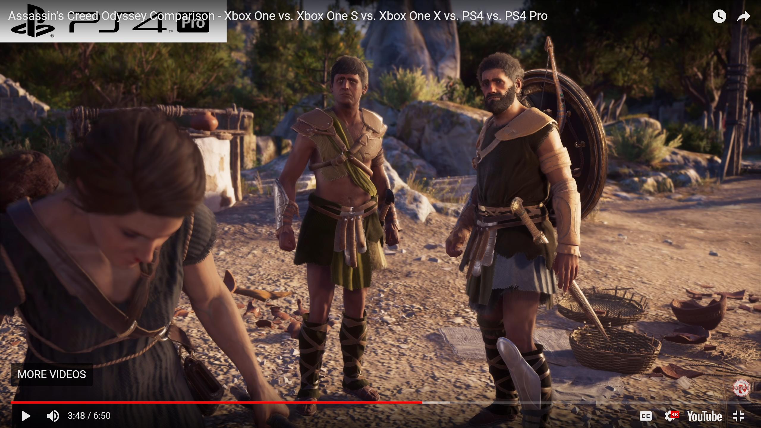 Assassin's Creed Odyssey Comparison - Xbox One vs  Xbox One S vs
