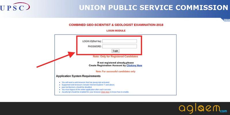 Login link after registration.