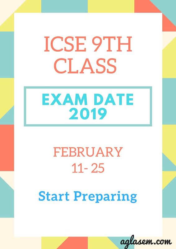 ICSE class 9 Board Exam Time Table 2019 Download Here| ICSE Exam