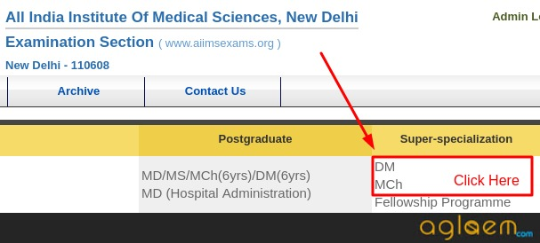 AIIMS DM / M.Ch / MHA 2019 Application Status: Check Status of Application Form / Online Registration
