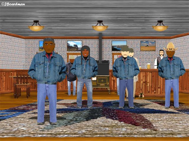 Travis inside the Flyspeck Bar ©J. Boardman