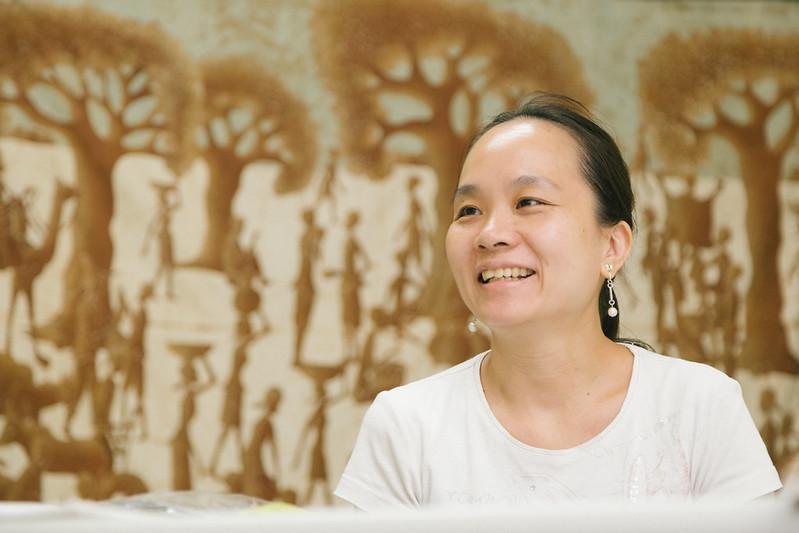 吳心萍分享在社區推動節能和公民電廠的心得(攝影:吳宜靜)