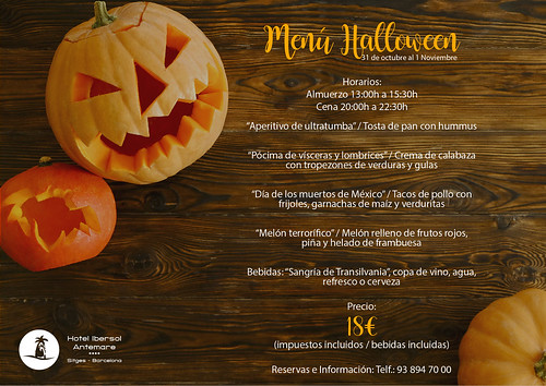 Menú Halloween Hotel Ibersol Antemare