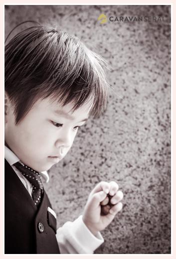 5歳の男の子の七五三ロケーションフォト/景行天皇社(愛知県長久手市)