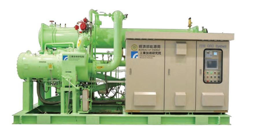 ORC廢熱回收發電用於高耗能產業,避免廢熱汙染,還能發電。圖為125KW機型。圖片來源:工研院