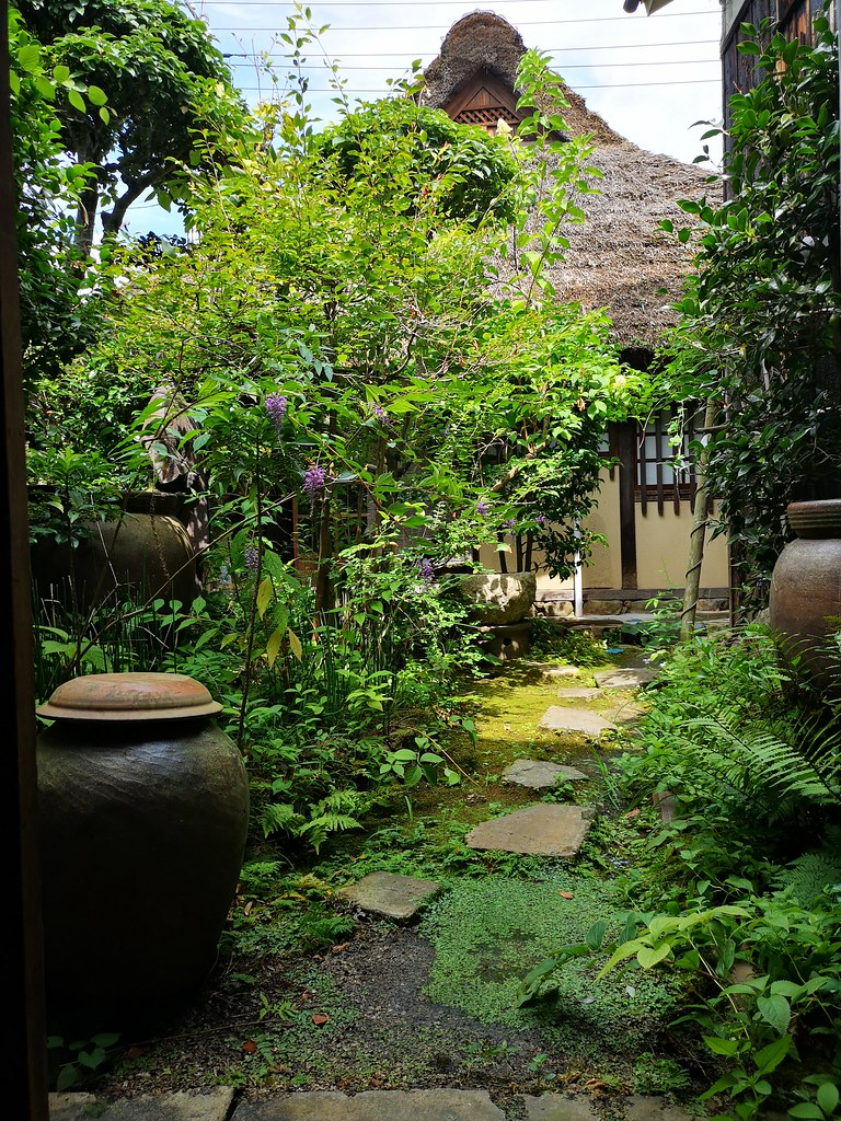 Sensei So's lovely courtyard.