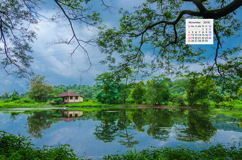 Free download November 2018 Calendar Wallpaper - A Red Tiled House Rural Maharashtra