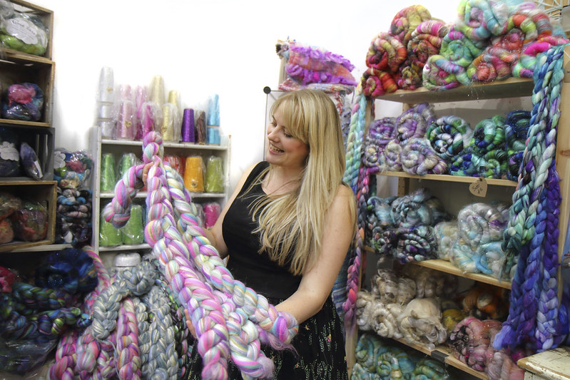 Louise McDonald of Spin City at The Knitting & Stitching Show 2018