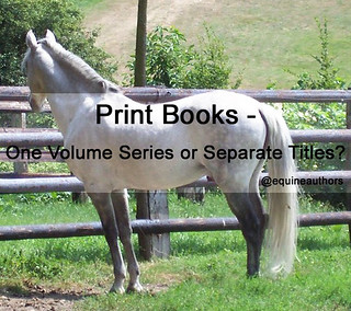 Print Books - One Volume Series or Separate Titles? @equineauthors