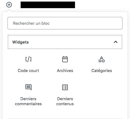 Blocs Widgets