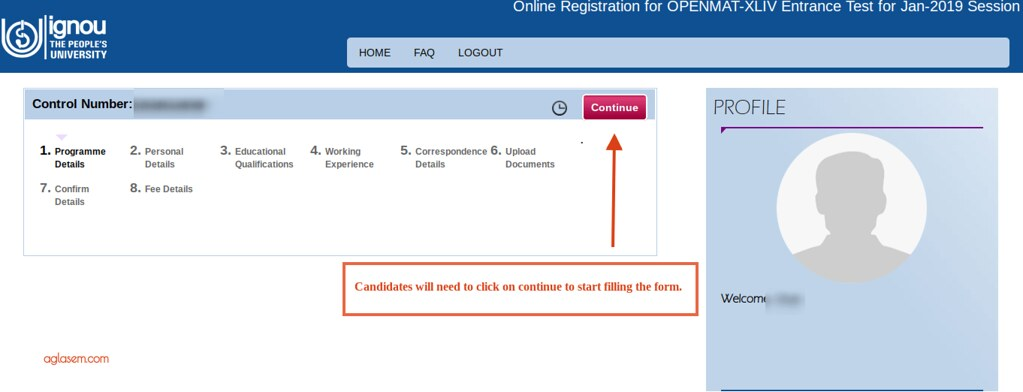 IGNOU OPENMAT 2019 Application Form