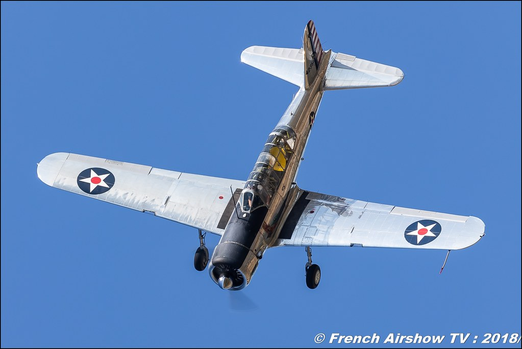 Vultee BT-13 Valiant 42-42352 N93 Meeting de l Air BA-133 Nancy Ochey 2018 FOSA Armee de l Air Canon Sigma France contemporary lens Meeting Aerien 2018