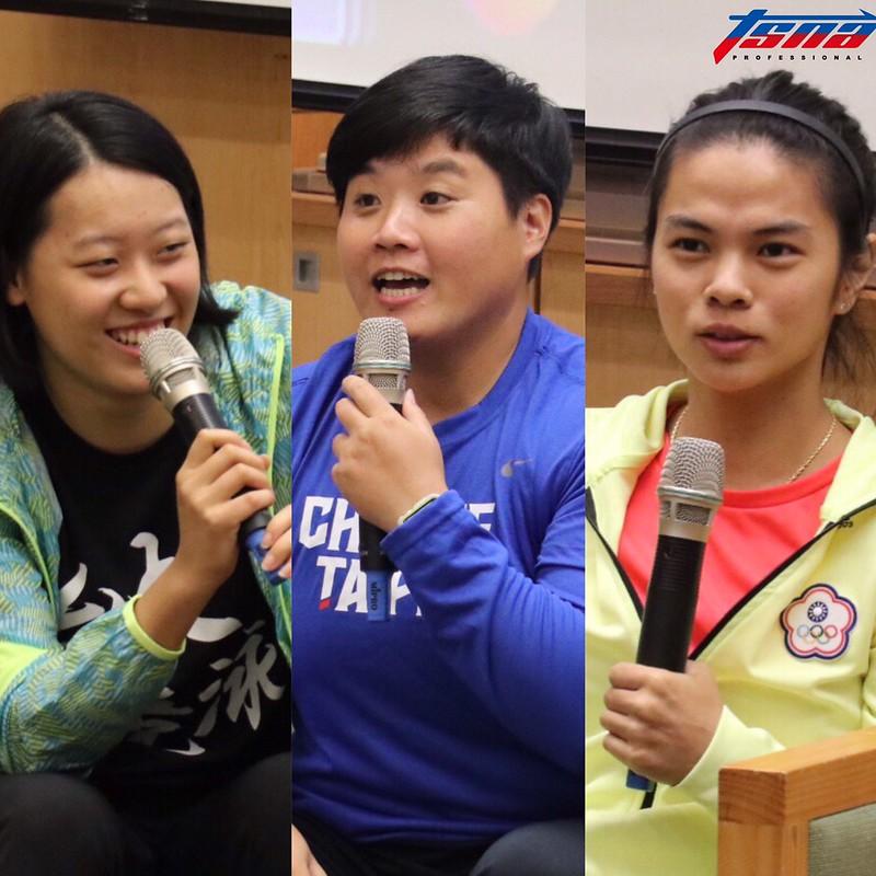 (圖左)黃渼茜、林家瑩、許淑淨。(行大昀/攝)