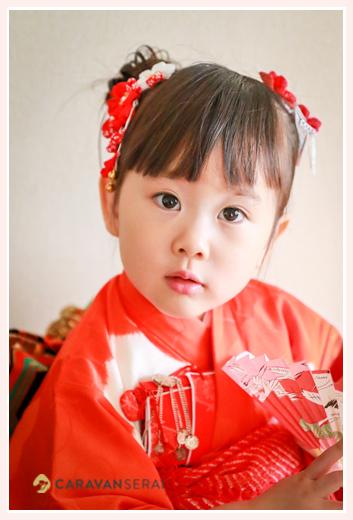 3歳の女の子の七五三ロケーションフォト