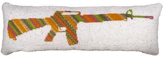 M16 Body Pillow by Bonnie Lebesch