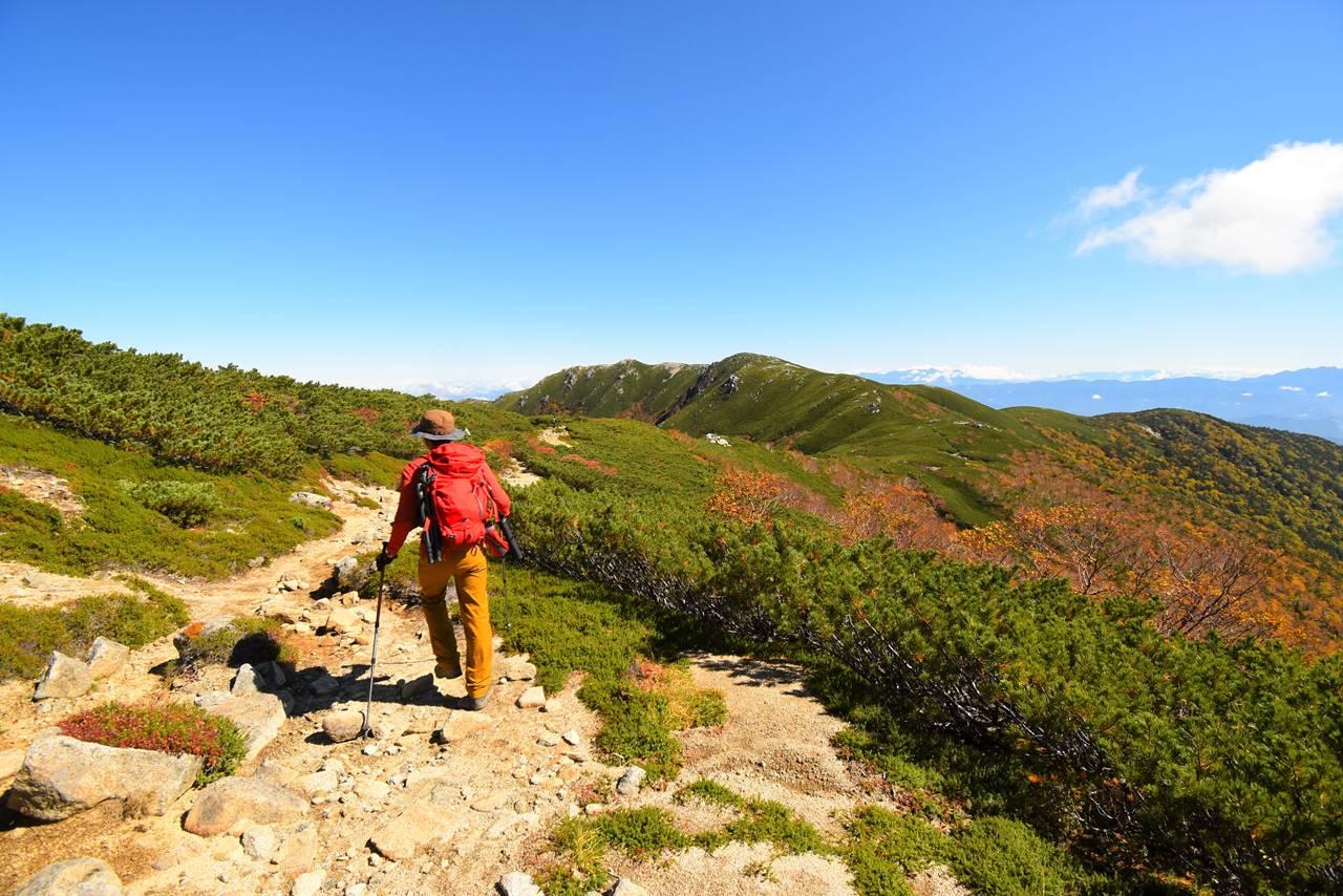 木曽駒ヶ岳~将棋頭山の稜線トレイル