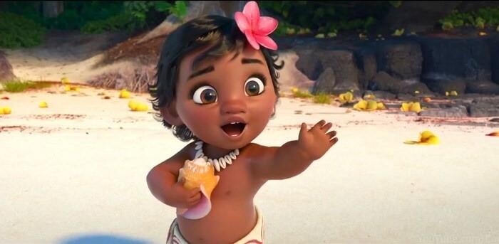 Nàng búp bê công chúa Moana lúc còn nhỏ