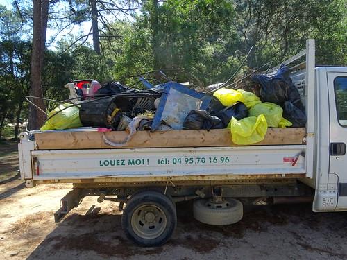 Photos des déchets rapportés au Parc-Aventure