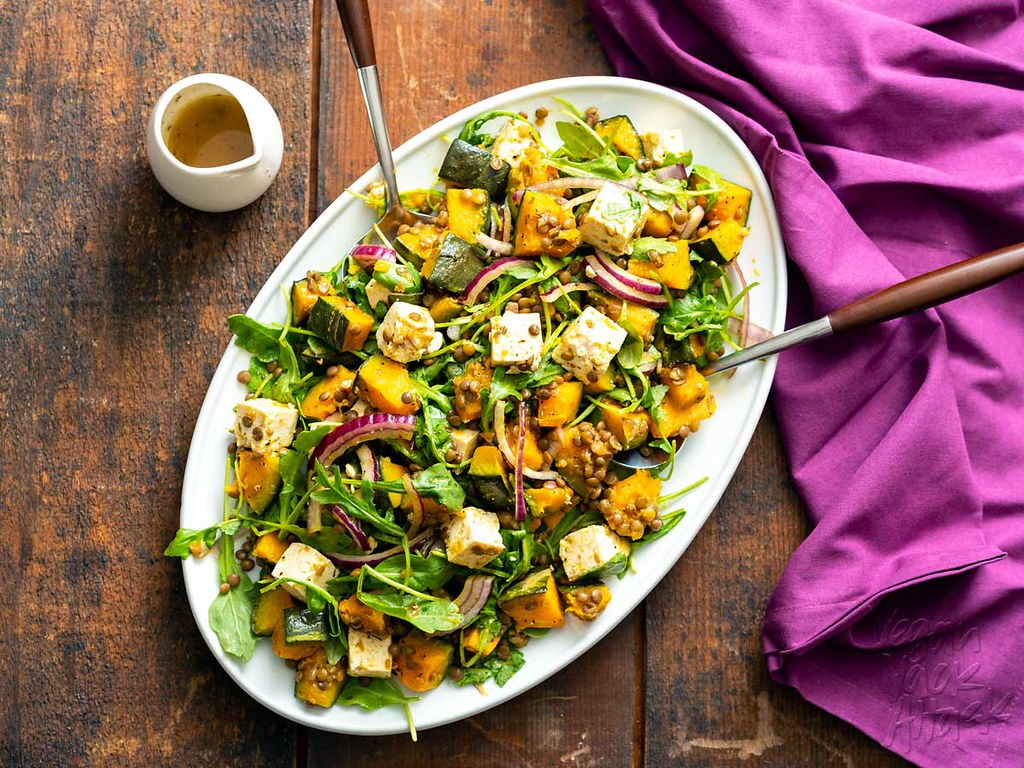 To ring in the season, I've brought a squash recipe to the table! This Kabocha Squash Feta Salad is booming with flavor and color. #vegan #glutenfree #nutfree