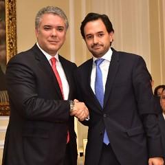 El Presidente de Colombia, Iván Duque y el Viceministro de Energía, Diego Mesa