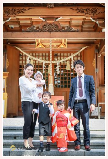 七五三とお宮参りのファミリーフォト 景行天皇社(愛知県長久手市)
