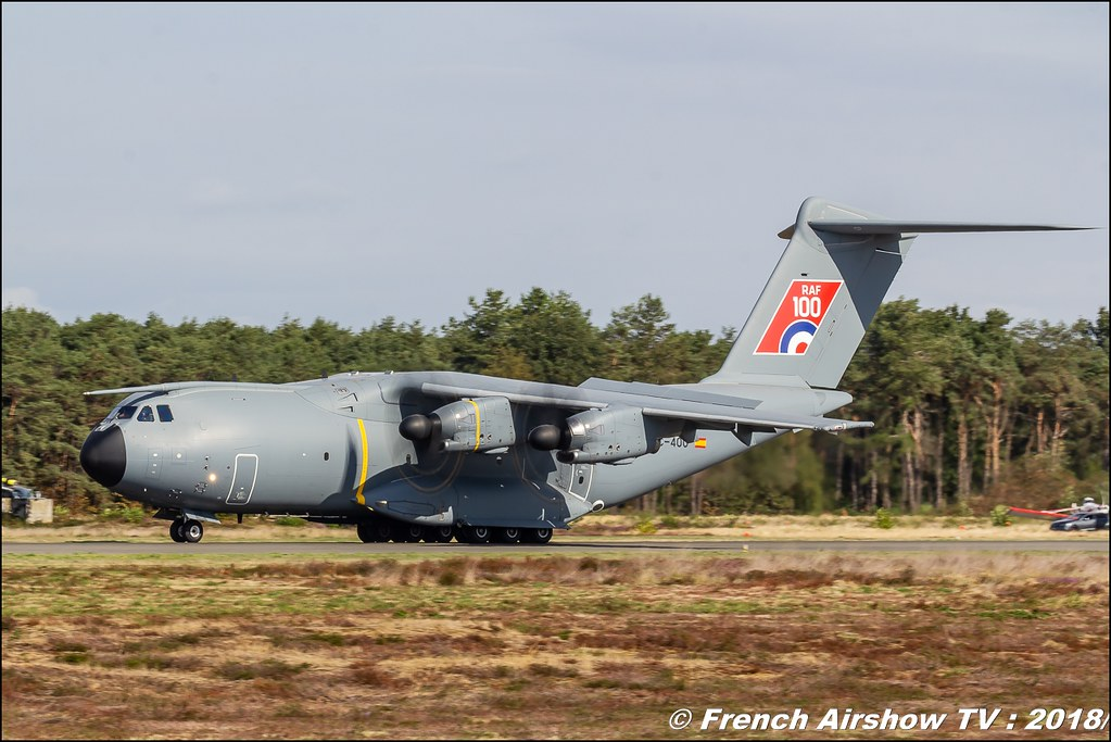 A-400M RAF100 BAFDAYS Kleine-Brogel 2018 BELGIAN AIR FORCE DAYS 2018 BA Kleine Brogel Canon Sigma France contemporary lens Meeting Aerien 2018