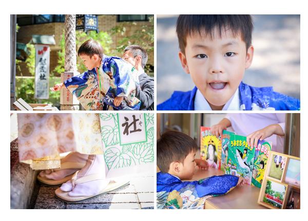 龍城神社(愛知県岡崎市)で七五三前撮りのロケーション撮影 5歳の男の子