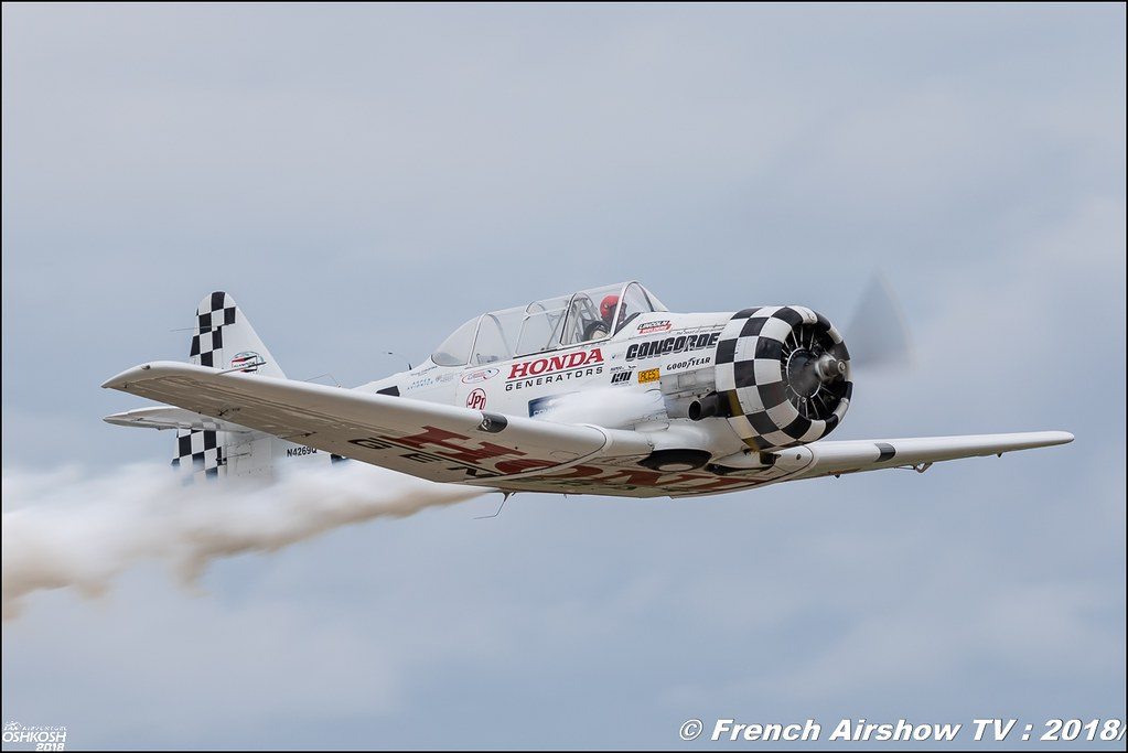 T-6 Texan : Gene McNeely Honda EAA AirVenture Oshkosh 2018 Wisconsin Canon Sigma France contemporary lens Meeting Aerien 2018