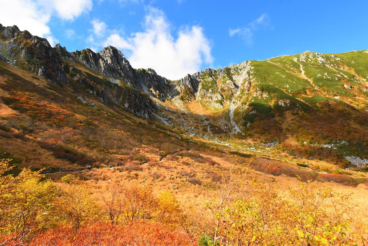 紅葉の千畳敷カール 木曽駒ヶ岳~濃ヶ池日帰り登山