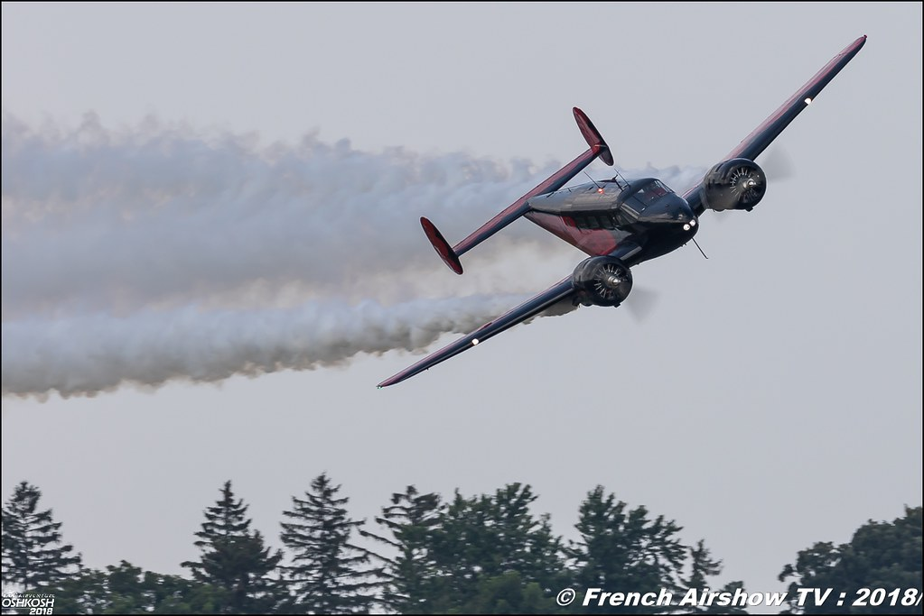 Twin Beech 18 N9109R younkinair Matt Younkin Airshows EAA AirVenture Oshkosh 2018 Wisconsin Canon Sigma France contemporary lens Meeting Aerien 2018