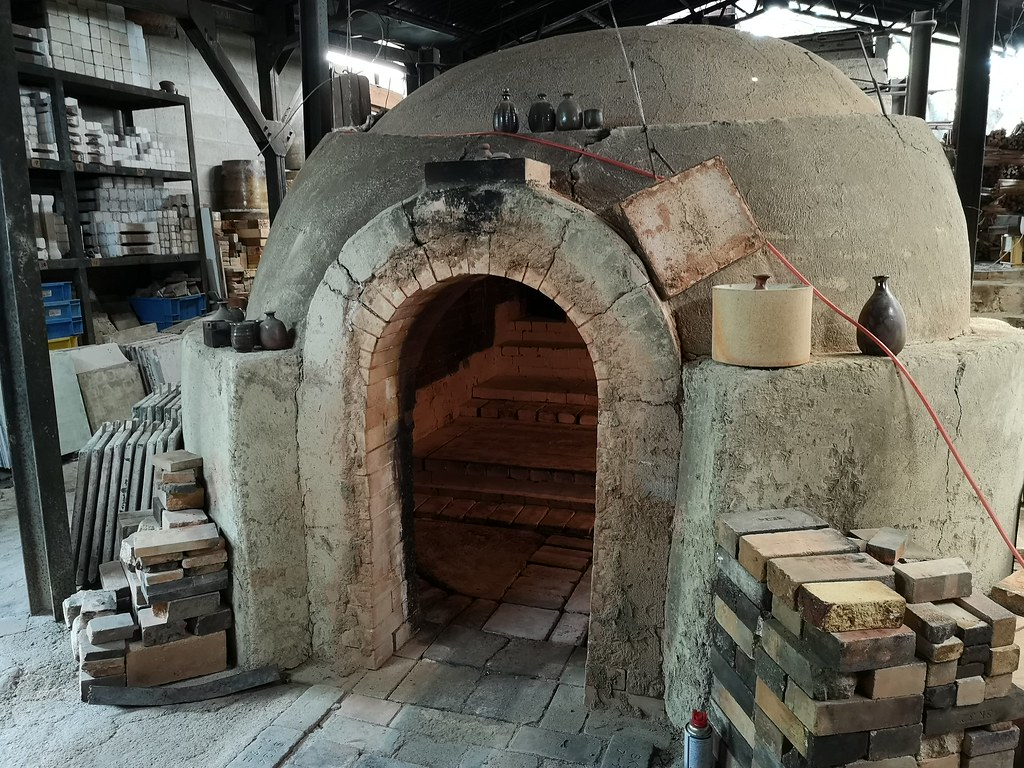 Sensei So's kiln. It takes weeks to fill it up and weeks to let everything cool and take each item out.