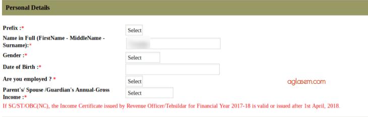TISSNET 2019 Personal DEtails