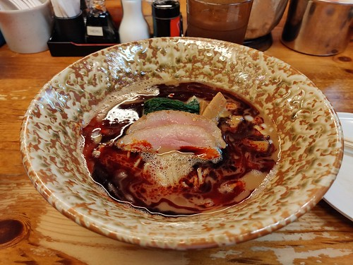 Keisuke's Rich Soup Spicy Duck Ramen with Nissin Red