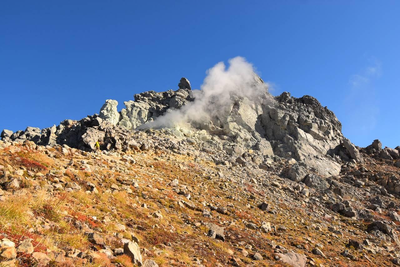 焼岳の噴煙