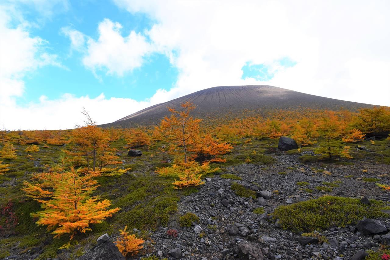 浅間山・前掛山と紅葉