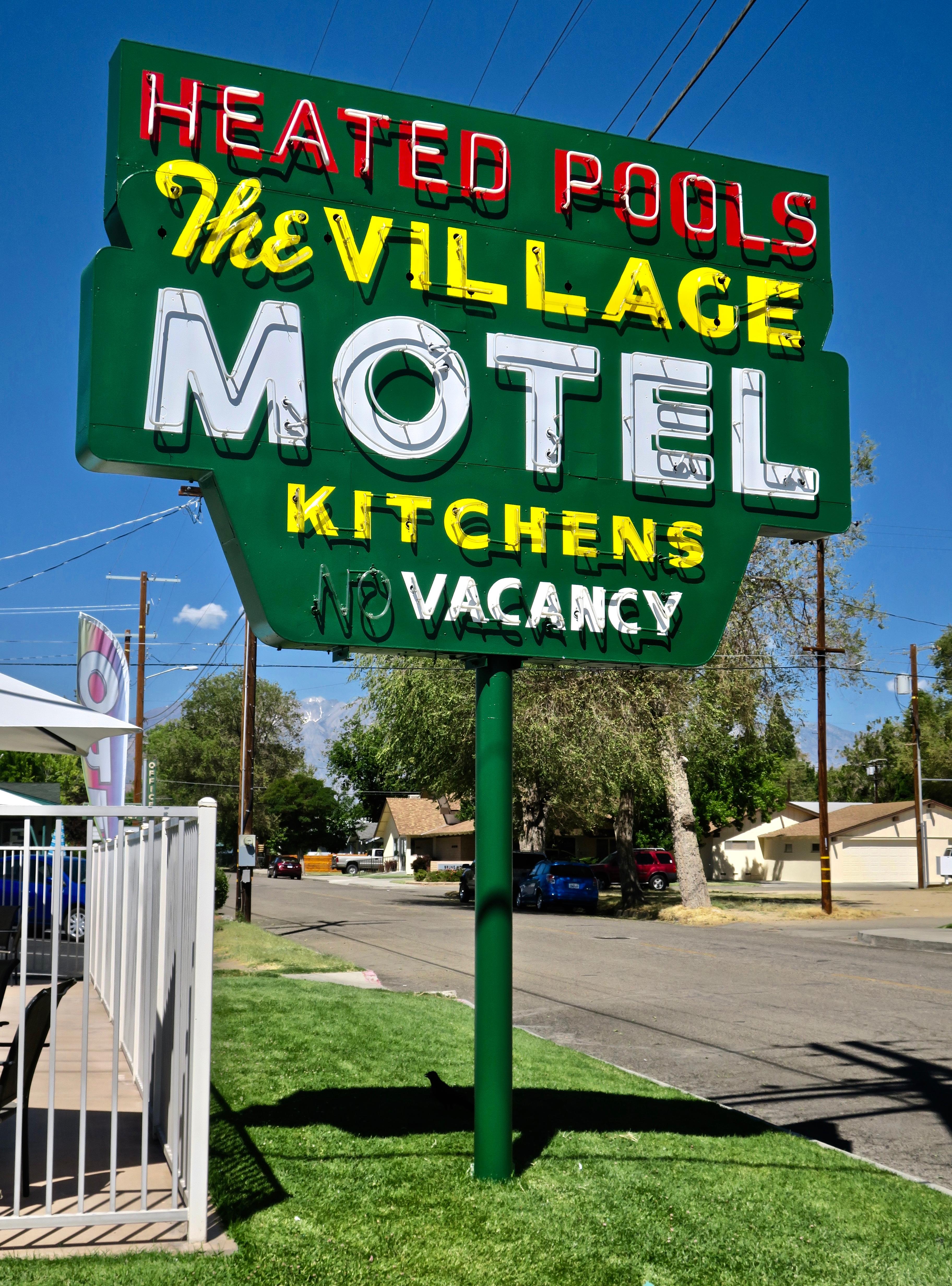 The Village Motel - 286 West Elm Street, Bishop, California U.S.A. - July 30, 2017