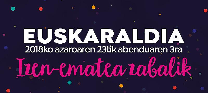 Imagen promocional del Euskaraldia